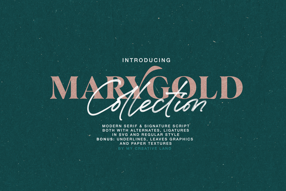 MARYGOLD FONT DUO COLLECTION