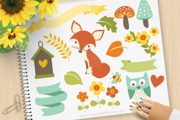 Whimsy Woodland Clipart