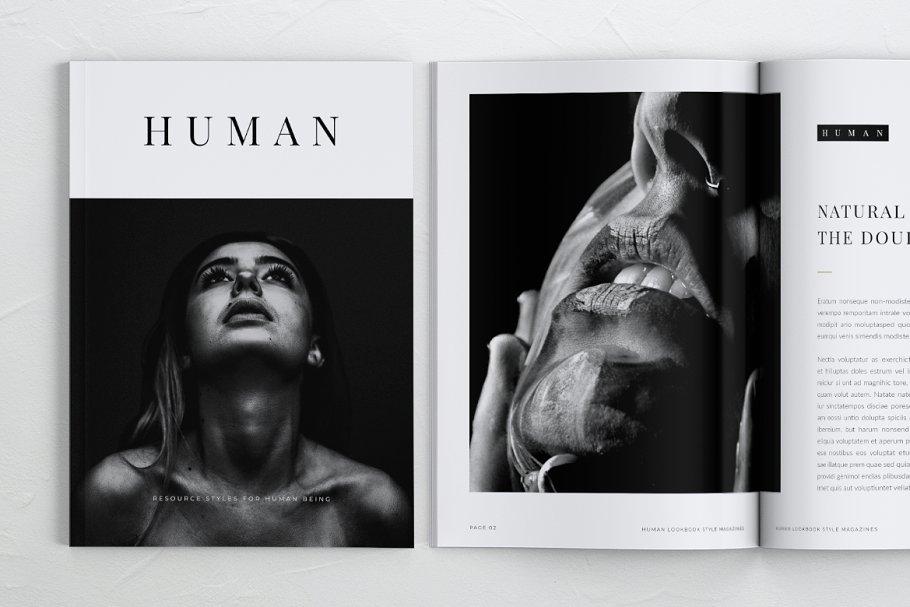 HUMAN Minimalist Lookbook Magazines