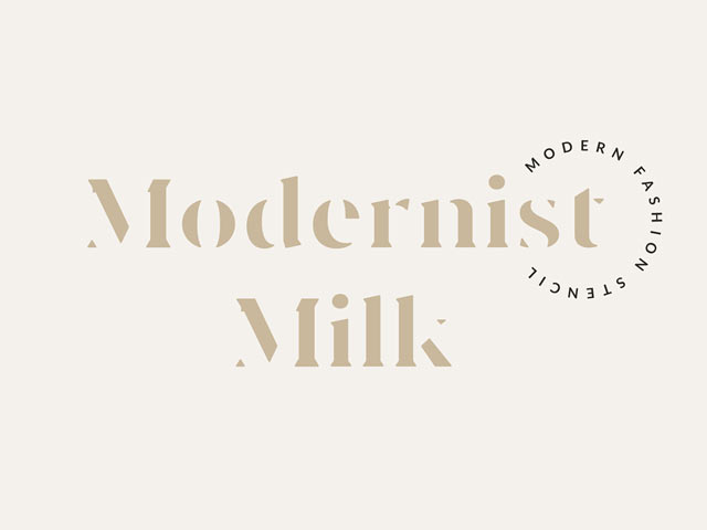 Modernist Milk Stencil Font