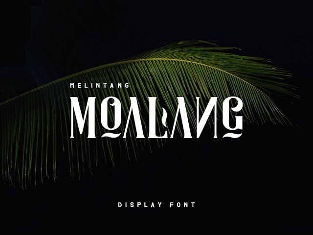 Moalang Display Font