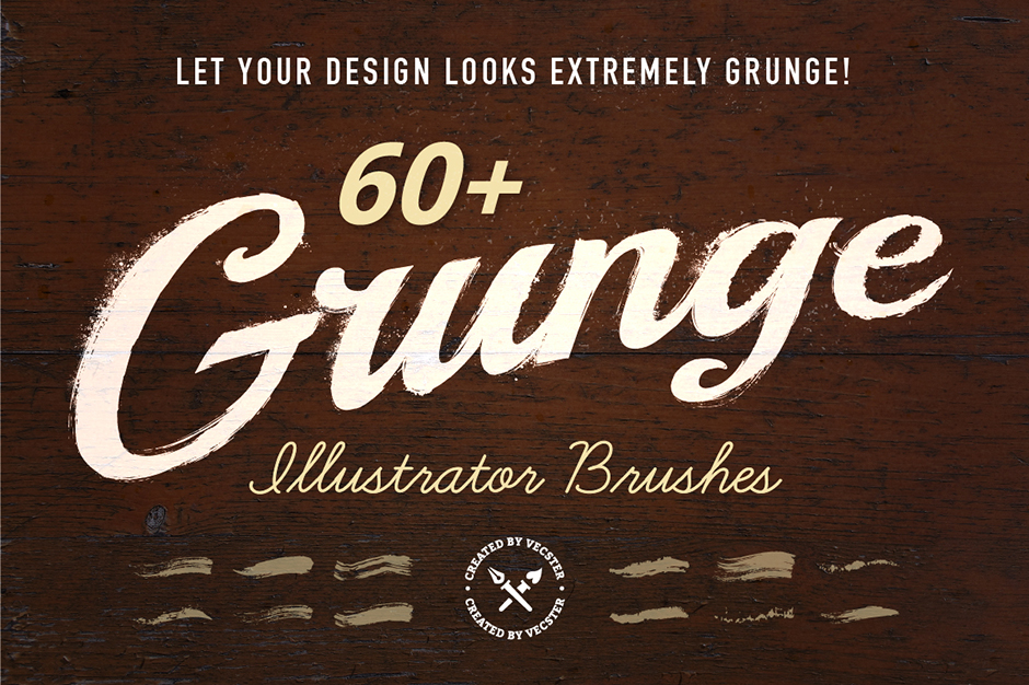 60 Grunge Illustrator Brushes