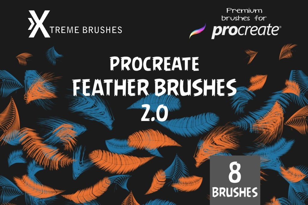 Procreate Feather Brushes 2.0!