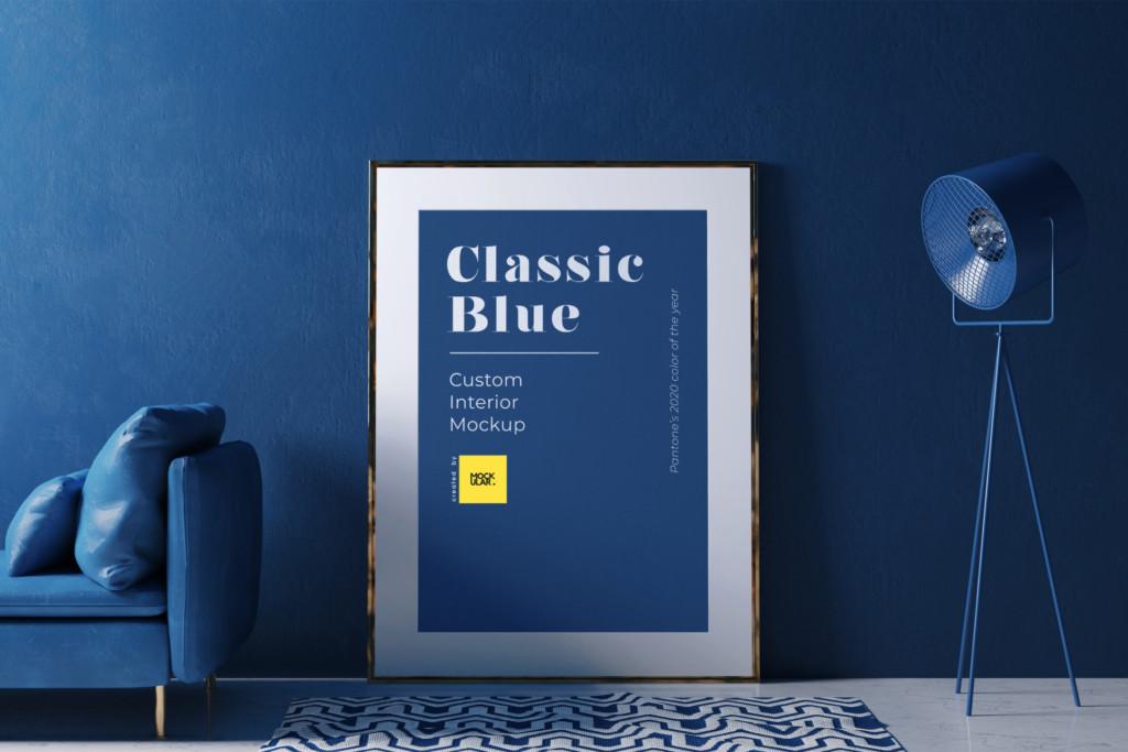 Free Pantone Classic Blue Interior