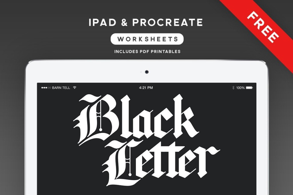 Black Letter Worksheets