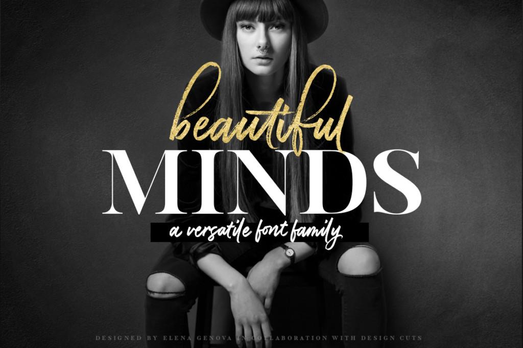 使えるセリフ書体中心のフォントセット:BEAUTIFUL MINDS – A VERSATILE FONT FAMILY