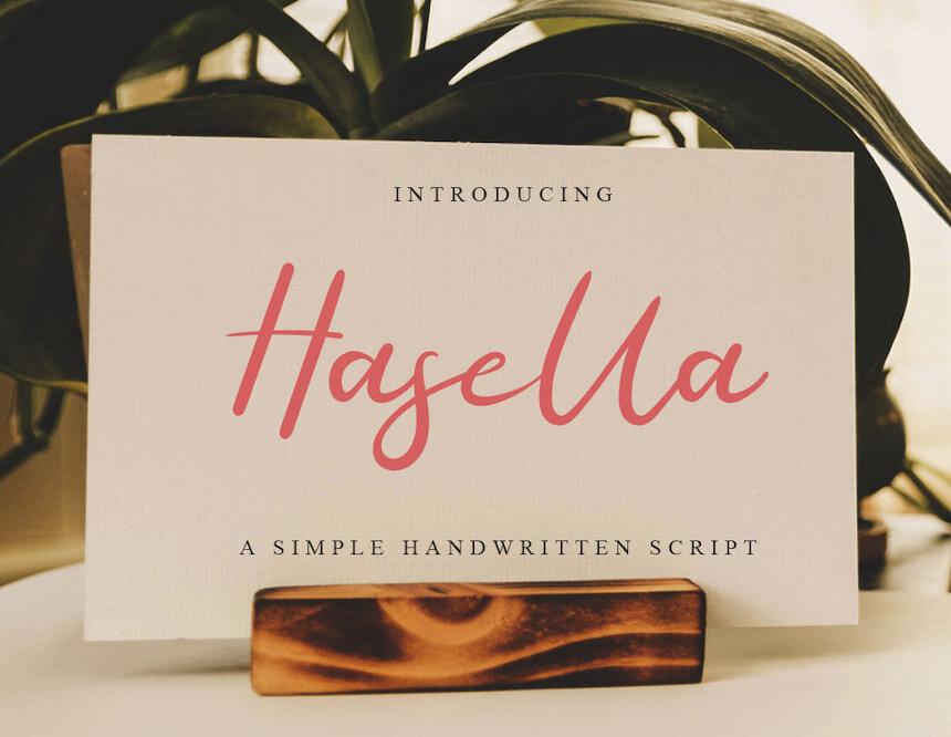 HASELLA - FREE SCRIPT FONT