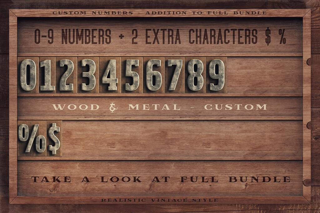 Vintage Letterpress - Custom Numbers