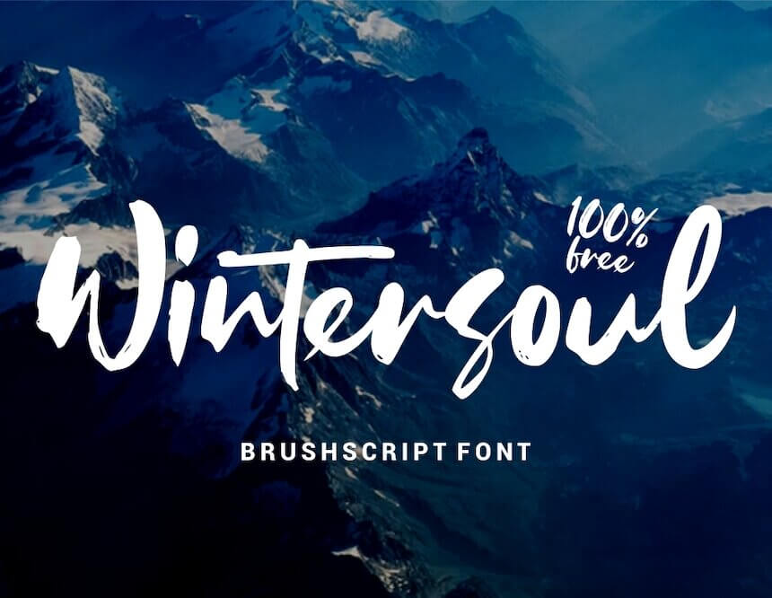 WINTERSOUL - FREE BRUSH SCRIPT FONT