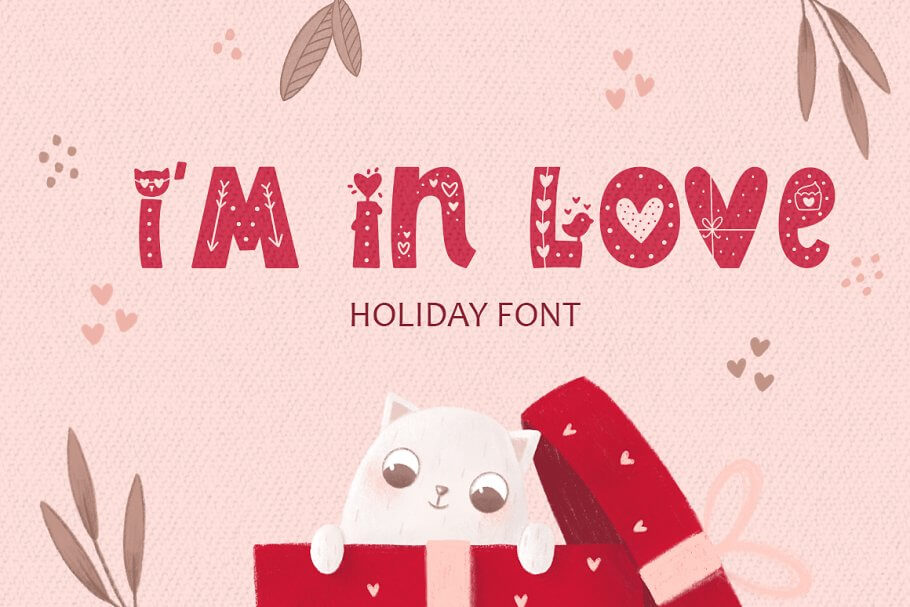 I Am In Love Font • Color typeface