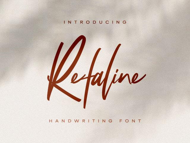 Refaline Script Font