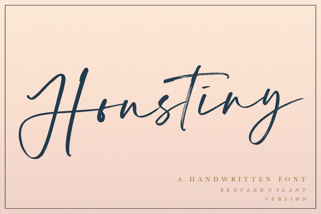 Houstiny - Handwritten Font