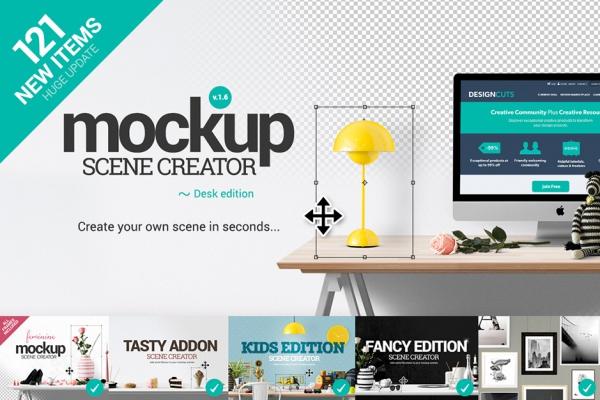 Mockup Scene Creator – Desk Edition.