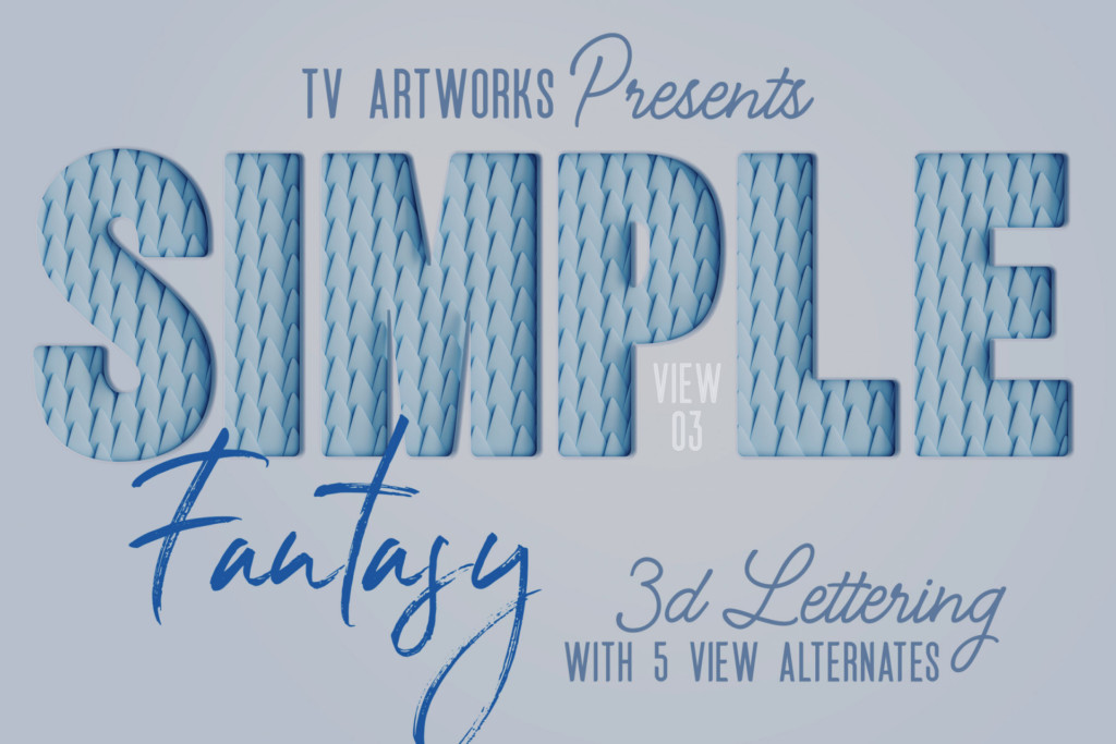 Free Simple Fantasy 3D Lettering