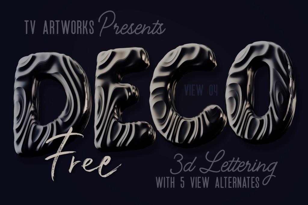 Free Dark Decorative 3D Lettering