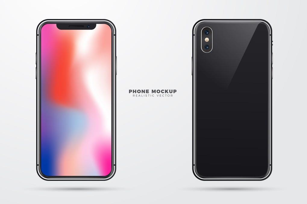 Realistic Vector Phone Mockup