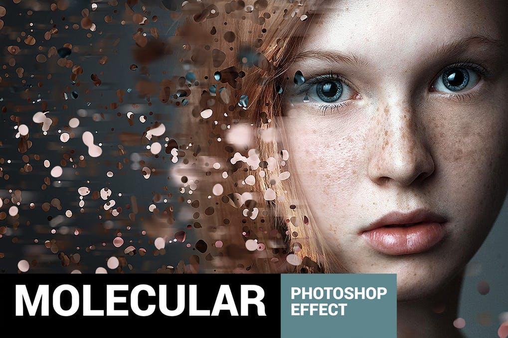 Moleculum - Сorpuscular Photoshop Action