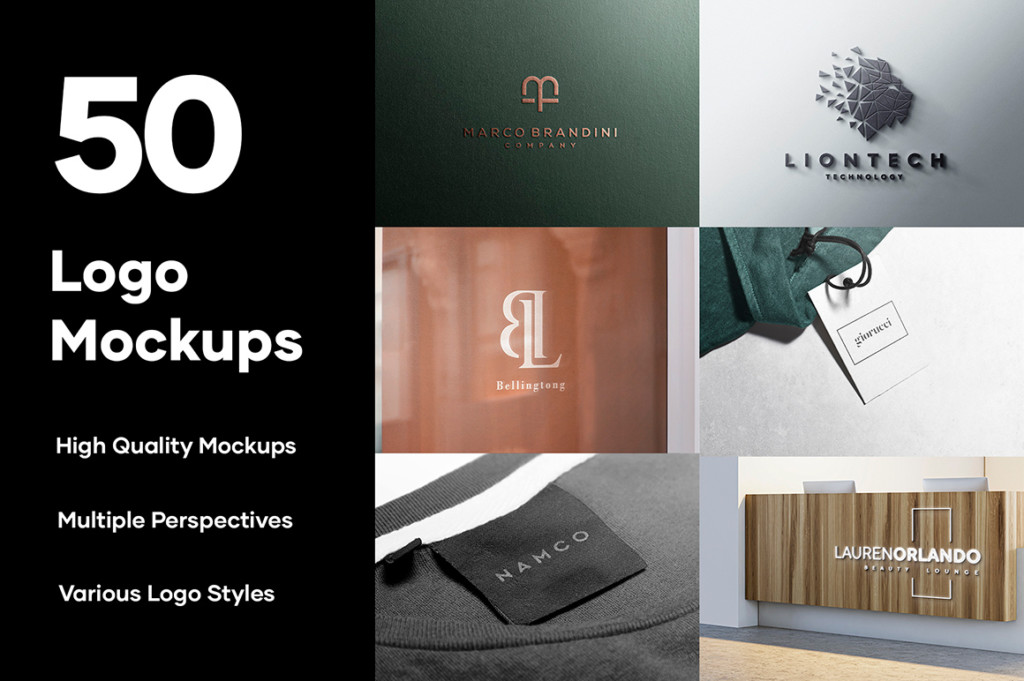 50 LOGO MOCKUP BRANDING COLLECTION