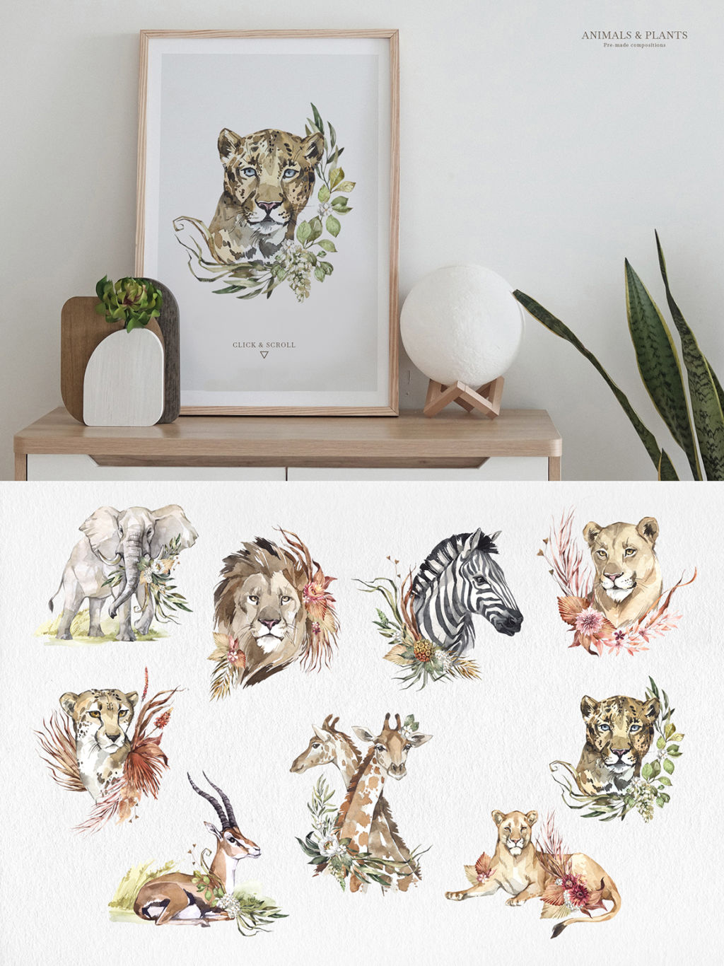 SAVANNA – WATERCOLOR ANIMALS COLLECTION