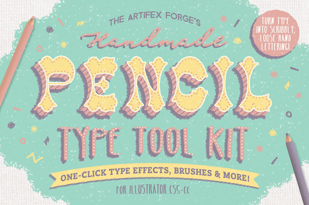 FREE: The Hand-Drawn Pencil Type Tool Kit