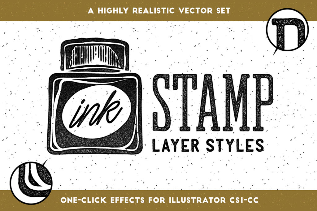 FREE: Ink Stamp Layer Styles