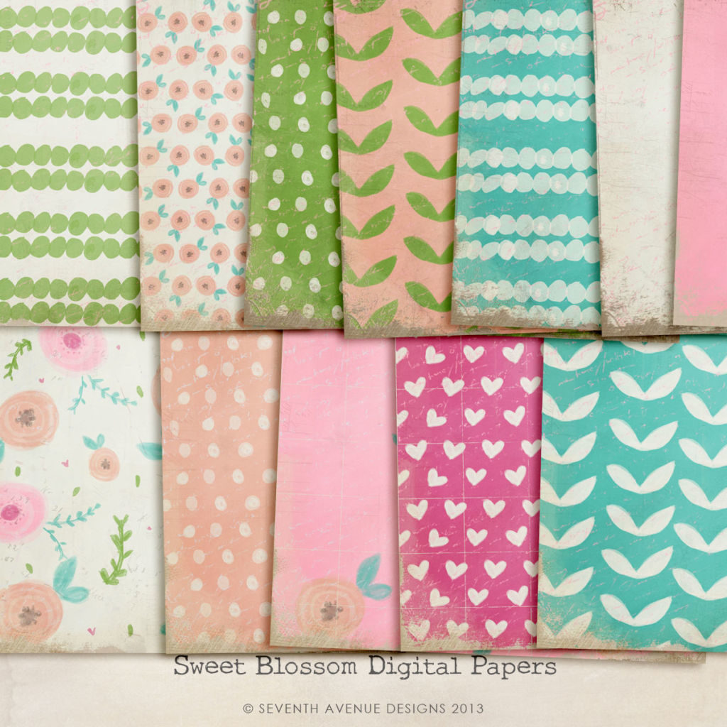 Sweet Blossom Digital Papers