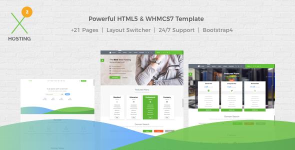 X-DATA - WHMCS7 & HTML5 Powerful Web Hosting Template