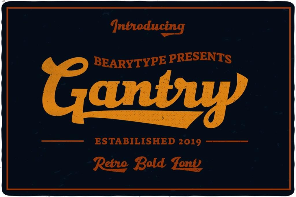 Gantry - Hand Lettering Script