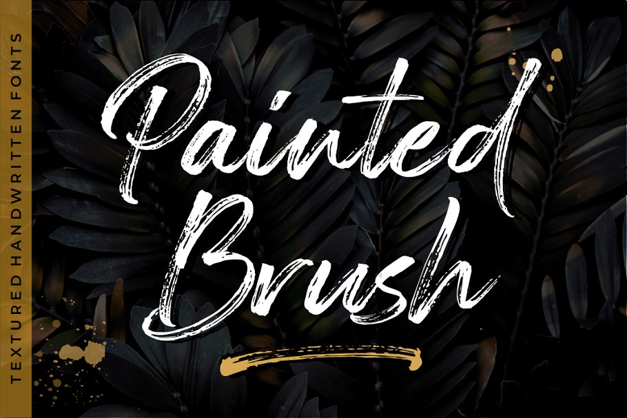 Painted Brush Fonts - Intro 30% OFF