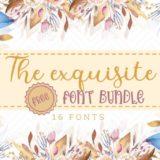 The Exquisite Free Font Bundle