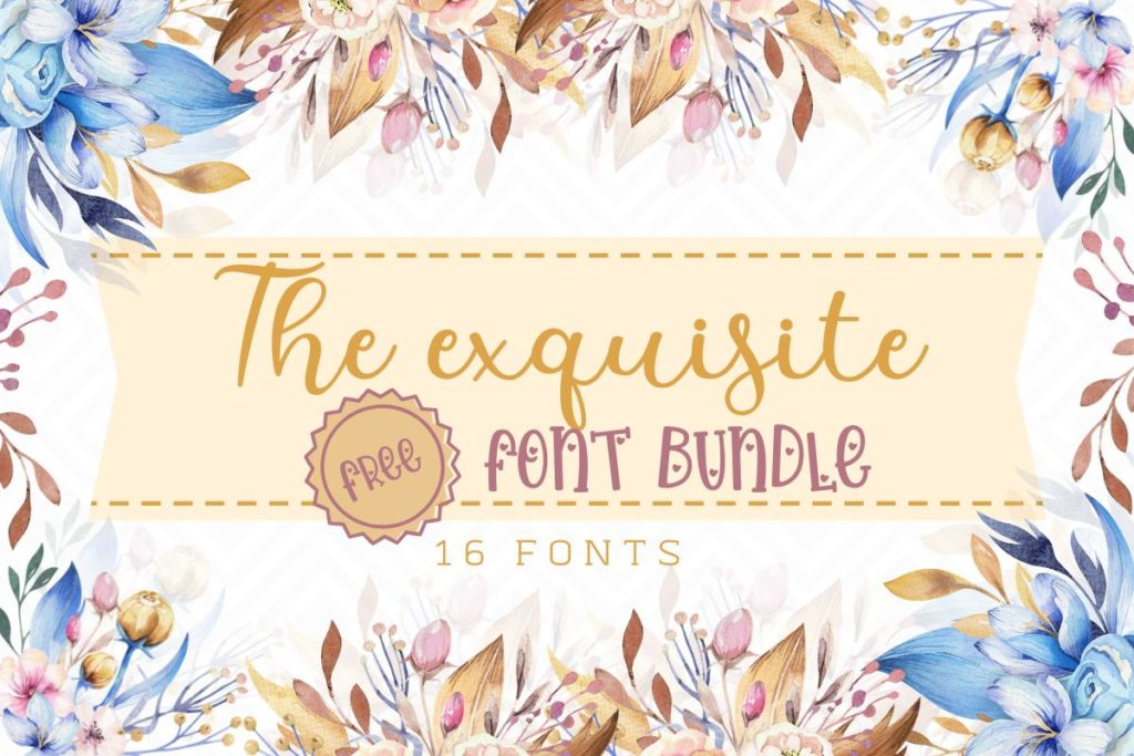 The Exquisite Free Font Bundle