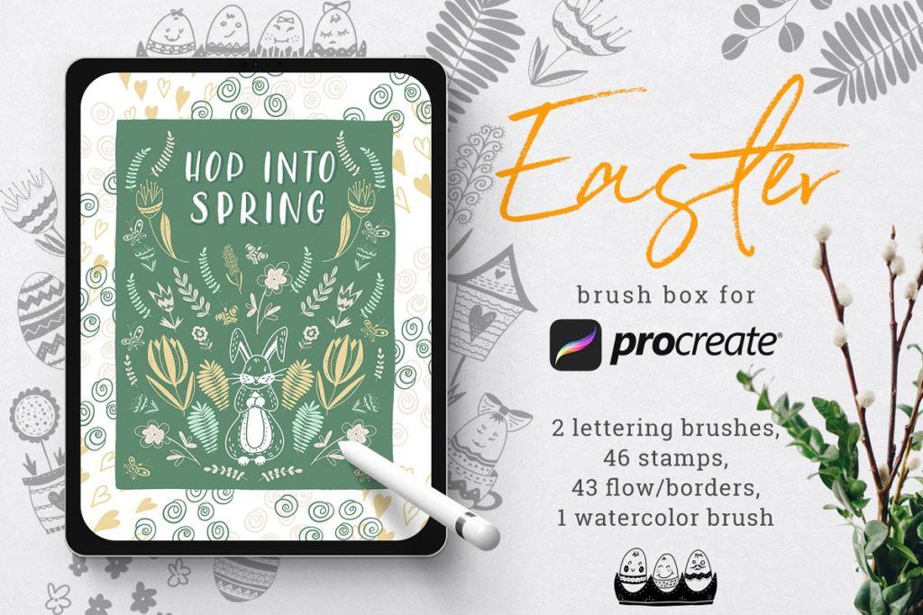 Easter brush box for Procreate
