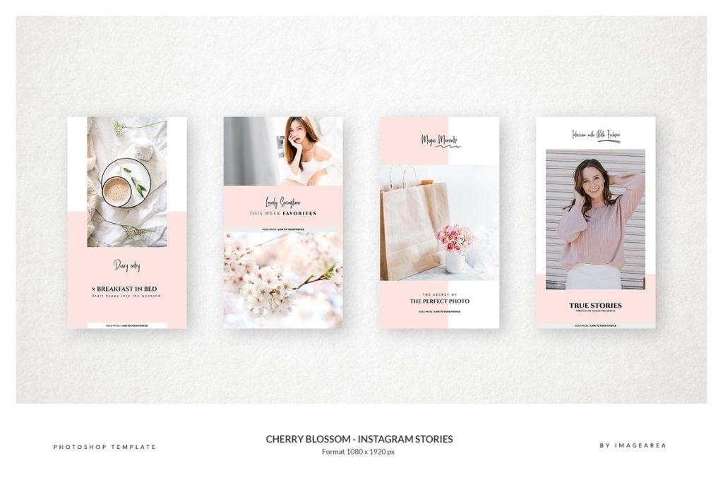 Cherry Blossom Instagram Stories