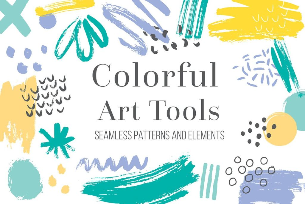 Colorful Art Tools. Patterns&Shapes