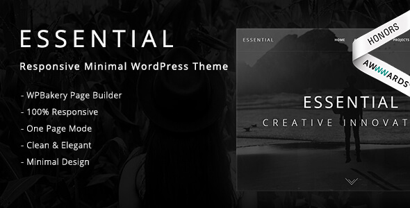 Essential - Responsive Minimal WordPress Theme