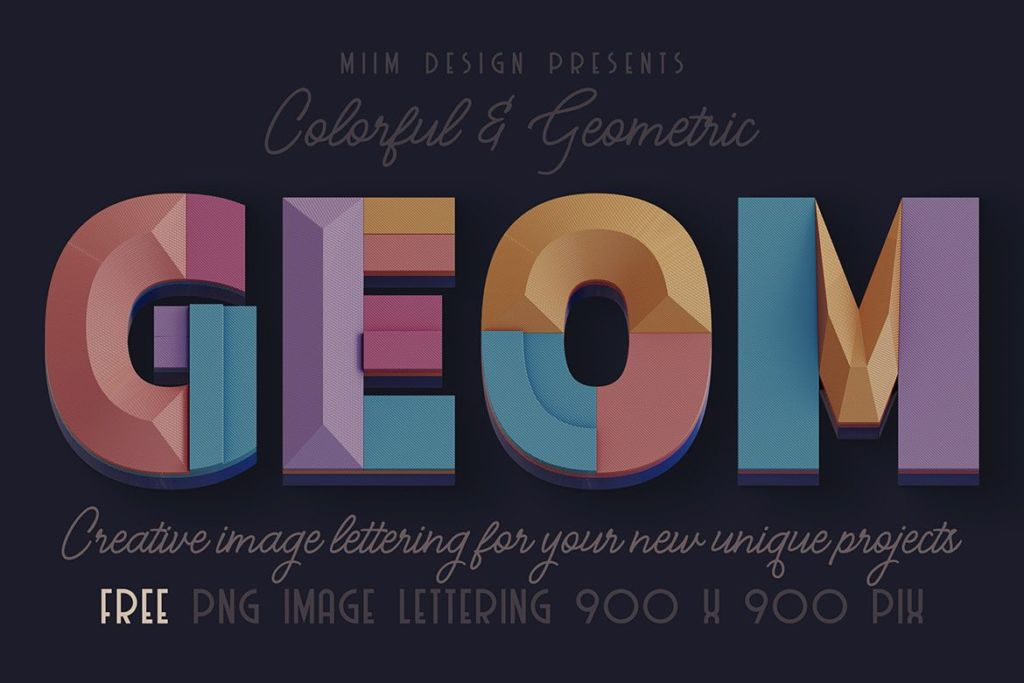 Free Deco Geometry - 3D Lettering