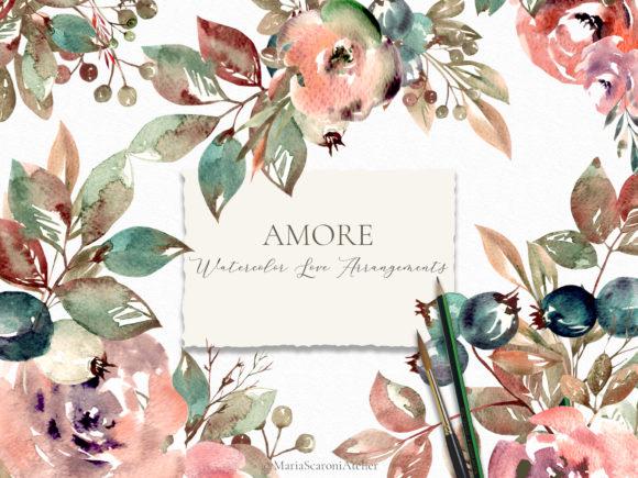 Amore Watercolor Floral Arrangements