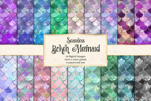 Bokeh Mermaid Digital Paper