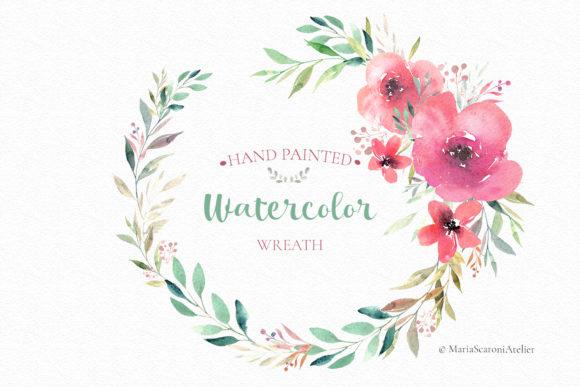 Floral Watercolor Wreath