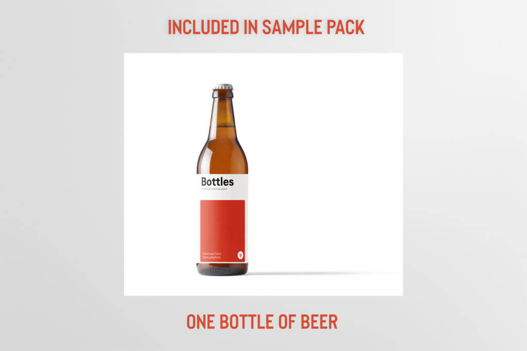 Free: Beer Bottle Mockup