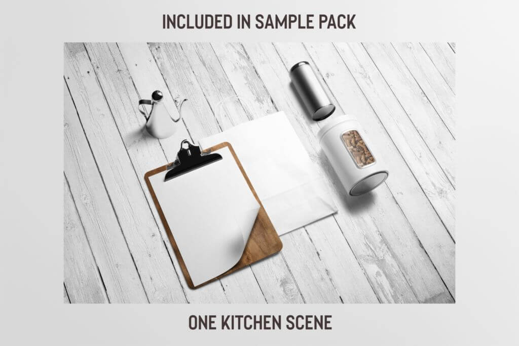 Free: Kitchen Scene Mockup