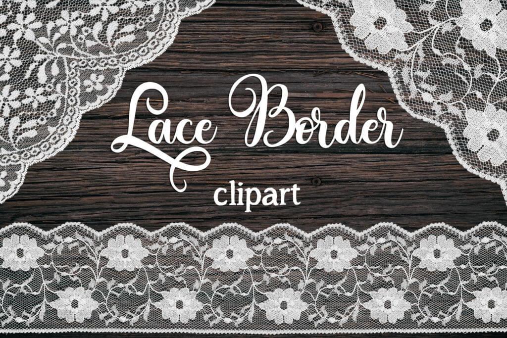 LACE BORDER CLIPART