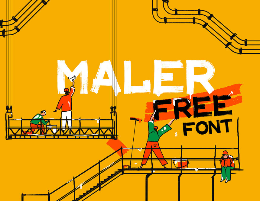 MALER - FREE DISPLAY FONT