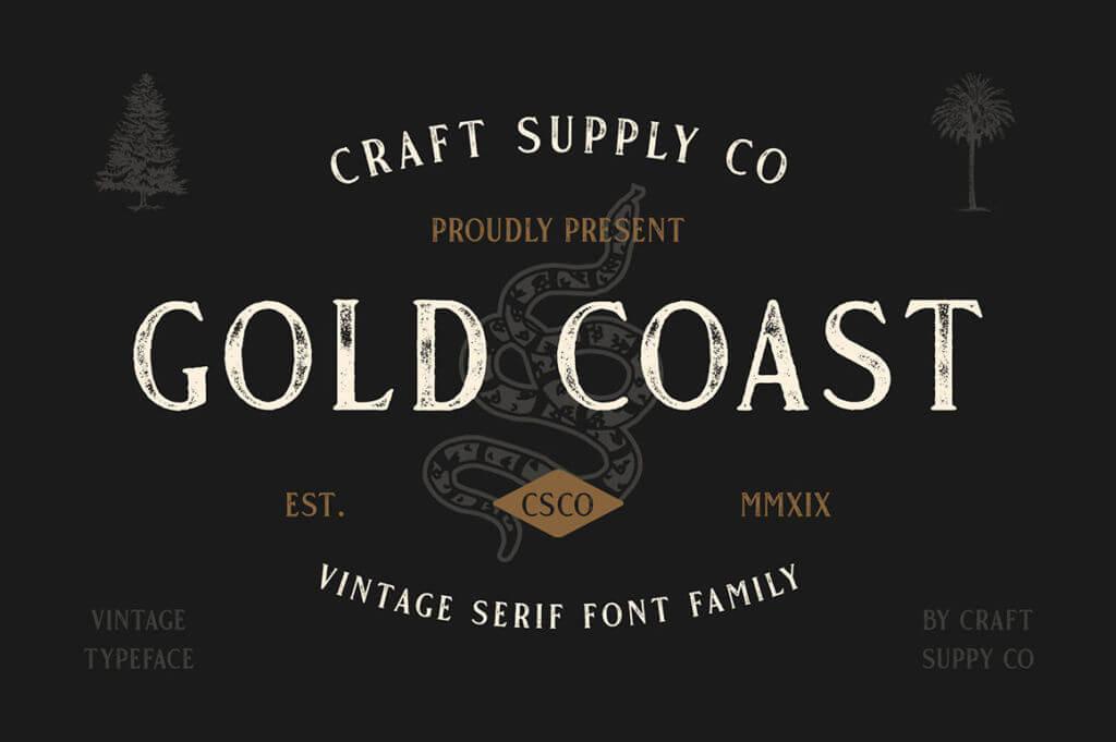 GOLD COAST – VINTAGE SERIF + EXTRAS