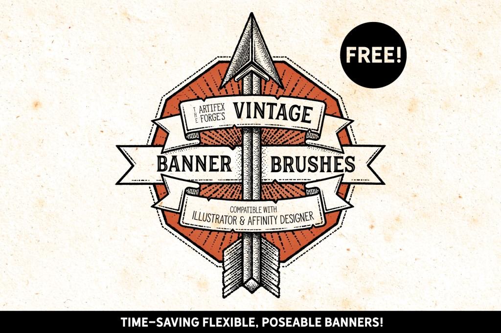 FREE – Vintage Banner Brushes