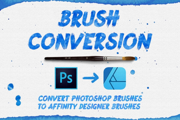 How to convert Adobe Photoshop Brushes to Affinity Designer Brushes