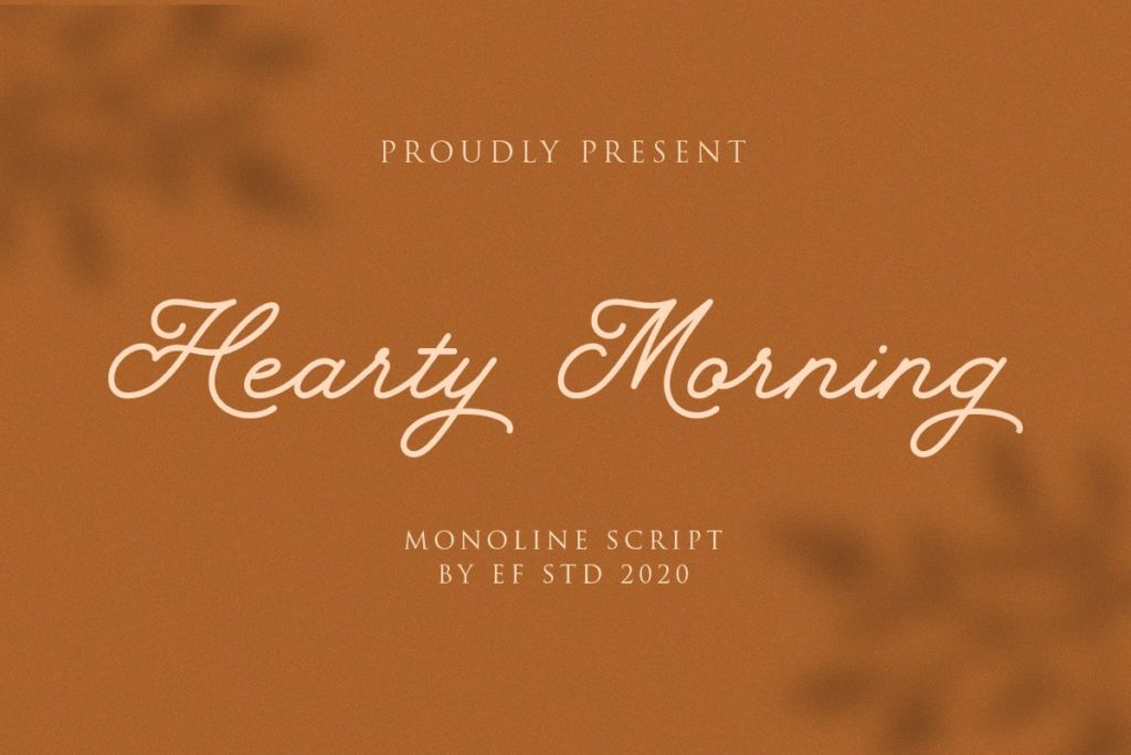 Hearty Morning - New Monoline Script