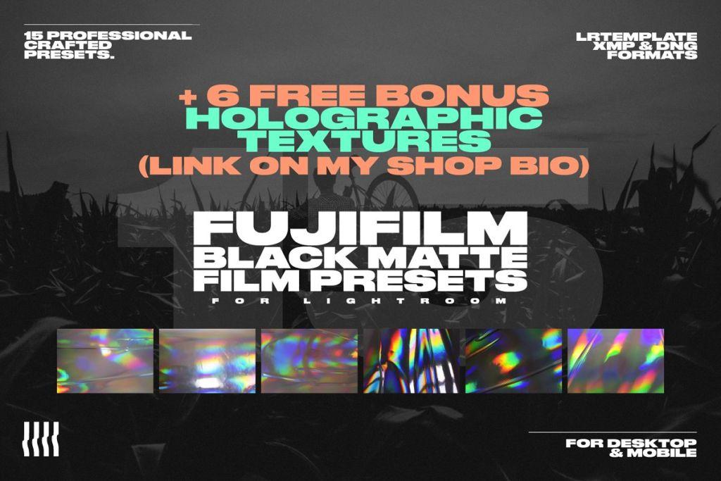 15 Fuji Film Black Matte LR Presets