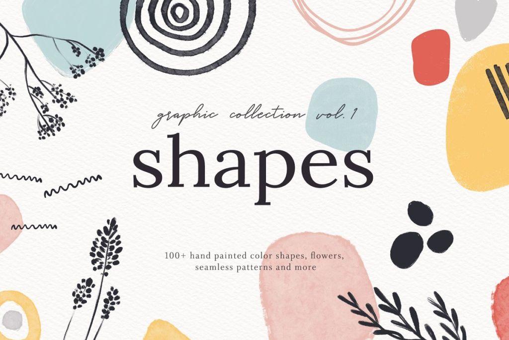 Abstract Shapes Print Graphics Vol.1