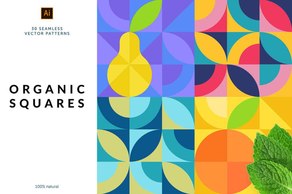 Organic Squares Patterns